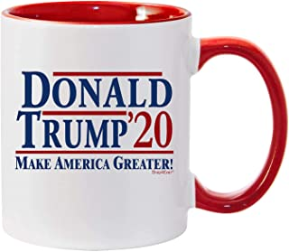Shop4Ever Trump Gifts Donald Trump '20 Make America Greater! MAGA Republican Conservative Gift for Him Her Red Handle Ceramic Coffee Mug Tea Cup (Red Handle)