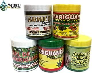 2 Arnicas Fuertes, 2 Mariguanol y 1Gel de Mariguanol Extra Fuerte Gel para aliviar el Dolor Alivio de la artritis, espalda, Cuello, articulación de la rodilla, extracto de reparación Muscular