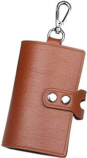 キーケース 本革 6連 三つ折り 鍵ケース おしゃれ 革 車 スマートキー カード キーリング 小銭入れ カラビナ付き
