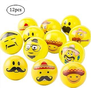 24 Paquets Dr/ôle Visage Squeeze Rebondissant Ball Color/é Doux Soulagement de La Pression Boule VCOSTORE Emoji Balle de Pression Mixed Ver