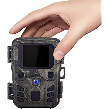 Suntekcam Mini Trail Camera 16MP 1080P 0.3s Trigger Speed Hunting Cams with Night Vision Motion Activated for Wildlife Monitoring Waterproof