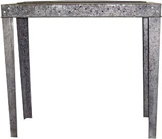 Small Gray Zinc Garden Potting Table