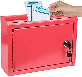 Kyodoled Suggestion Box,Mail Box, Key Drop Box, Wall Mountable,Safe Lock Box,Ballot Box,Donation Box 9.8