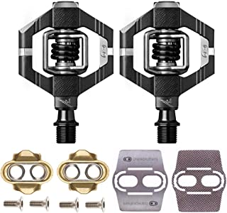 CRANKBROTHERs Crank Brothers Candy 7 MTB Bike Pedals Pair with Premium Cleats and Shoe Shields Set for Traction