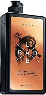 Bad Lab Gift Set Caveman 3 in 1, Hair, Face, Body Wash for Men, For High Endurance, Healthier and Stronger Skin (13.5 oz), Mens Toiletries Gift
