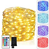 Asmader LED Fairy String Lights Plug in 16 Colors Change Remote with Timer Decor Lights, 33 ft 100 LEDs Twinkle Lights for Indoor,Outdoor, Bedroom, Party, Wedding, Holiday,Christmas