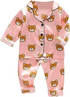 Fartido Pijamas Bebés Niños Niñas Camisetas de manga larga + Pantalones Pijamas Trajes de dormir