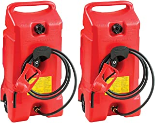 Scepter Flo N Go Duramax 14 Gallon Portable Gas Fuel Tank with Pump (2 Pack)