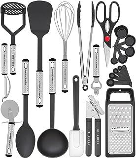 Kitchen Utensil Set - 23 Pcs Nylon Cooking Utensils Set for Non Stick Pans Kitchen Set - Kitchen Utensils Set Spatula Set...