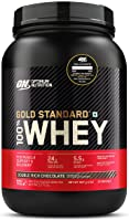 Optimum Nutrition (ON) Gold Standard 100% Whey Protein Powder 2 lbs, 907 g (Double Rich Chocolate), for Muscle Support &...