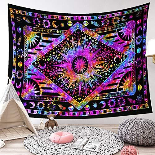 LIGICKY Indisch psychedelisch wandtapijt mandala Indiaas Boheems wandkleed boho katoen hippie wanddoek/meditatie yoga…