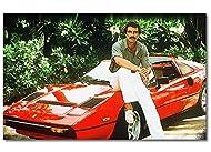 """Das Wandbild """"Ferrari Magnum"""" ist ein hochwertiger Kunstdruck. Es besteht aus 1 Teil mit einer Gesamtbreite von 80x50x2cm. Dieses Bild umfasst ein breitgefächertes Farbspektrum. Das Wandbild ist auf einen Holzkeilrahmen gespannt, fertig zum Aufhängen..."""