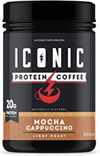 ICON Meals Protein Coffee, Premium Whey Protein, 150mg of Caffeine, Nootropic Blend, Gluten-free & Non-GMO, Energy and Foc...