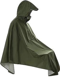 SaphiRose Waterproof City Cycling Rain Poncho Coat with Reflective (Pocket)