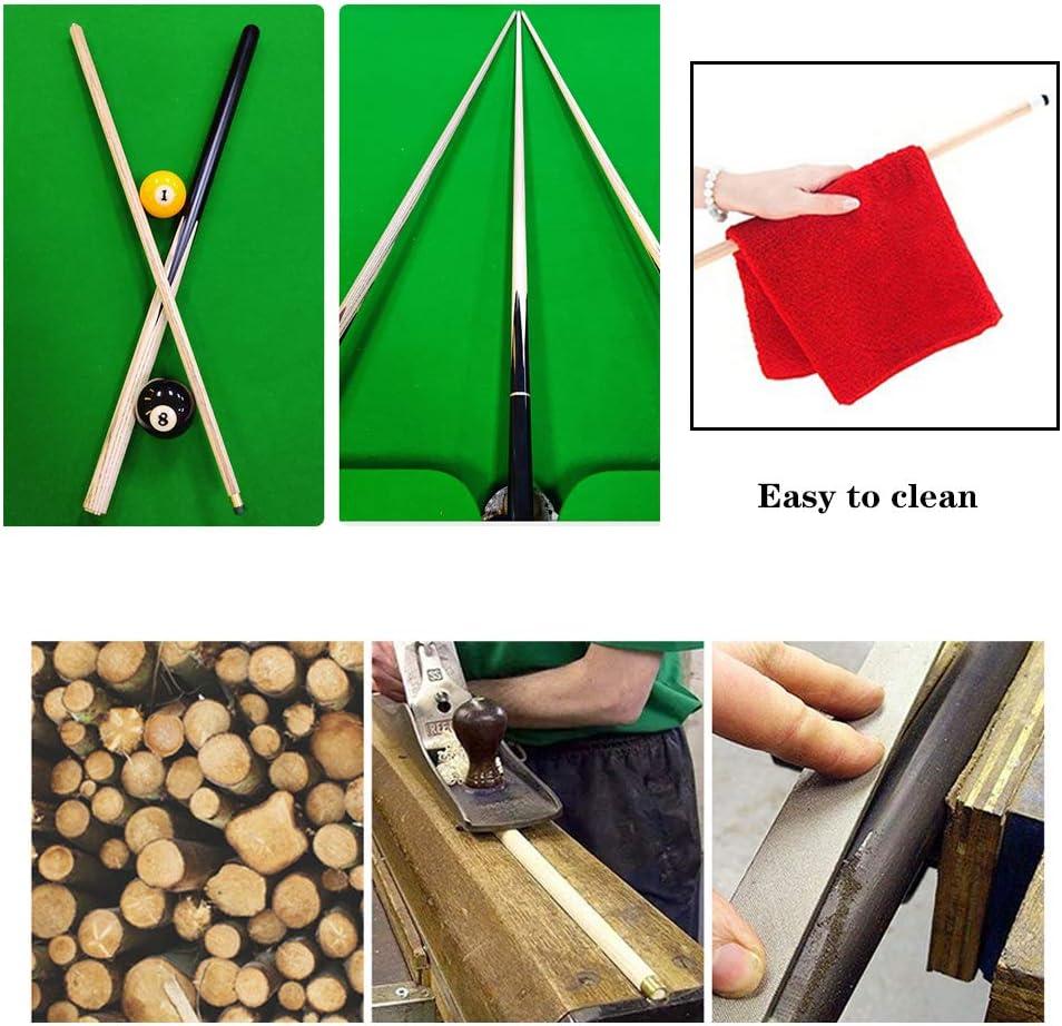 Design ergonomique Pour jeux et sports de table de billard XYNH Lot de 2 queues de billard 147 cm Queues de billard en bois dur B/âtons de billard en 538,6 g