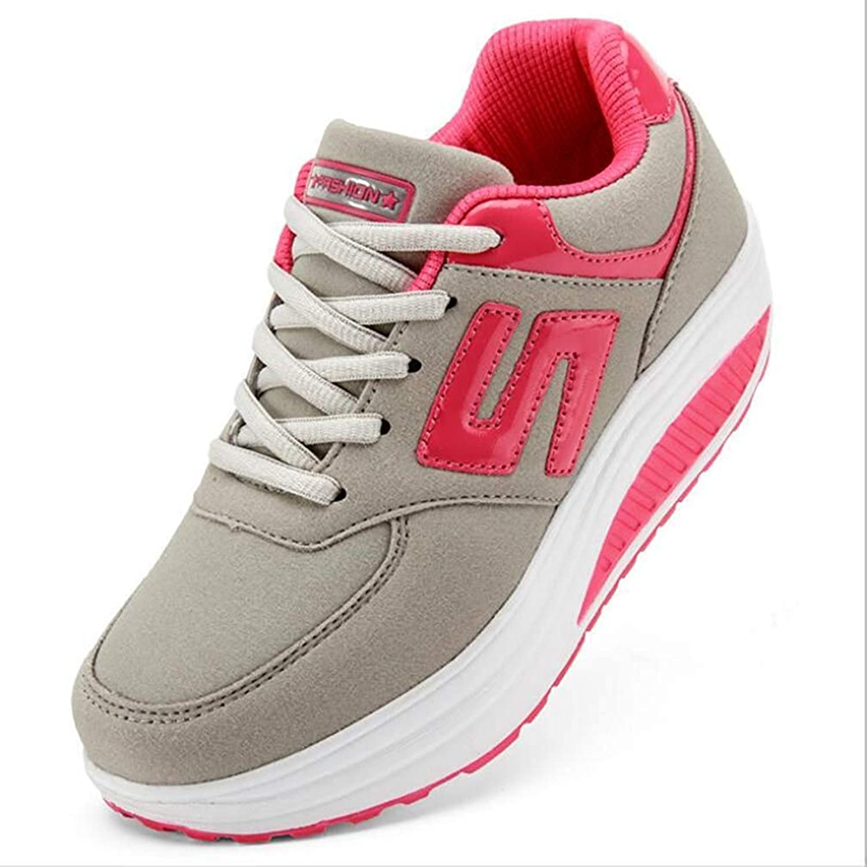 Ghapwe Women Wedges shoes High Top Sneaker Women Casual shoes Female Height Increasing Platform Brand shoes Plus Size 33-43 Warm Elegant Soft Wear Resistant Joker Green 8 M US shoes
