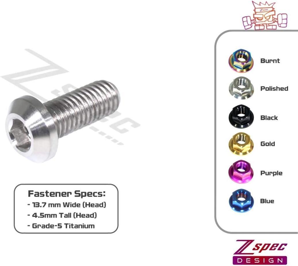 Angled Head Sold Per Each ZSPEC Design M8-1.25x20mm Titanium Metric Dress-Up Fasteners//Bolt