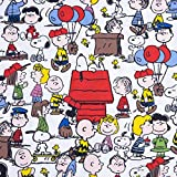 Baumwolljersey Peanuts Snoopy & Friends weiß - Preis gilt