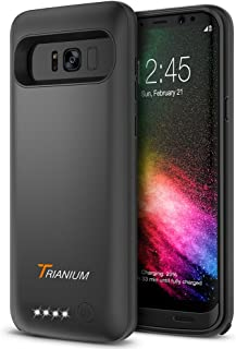 Galaxy S8 Plus Battery Case, Trianium Atomic Pro Battery Charger for Samsung Galaxy s8 Plus / s8+ 6.2-inch Phone ONLY- 5000mAh Extended Battery Juice Power Fast Charging Case [Quick Charge Pass-Thru]