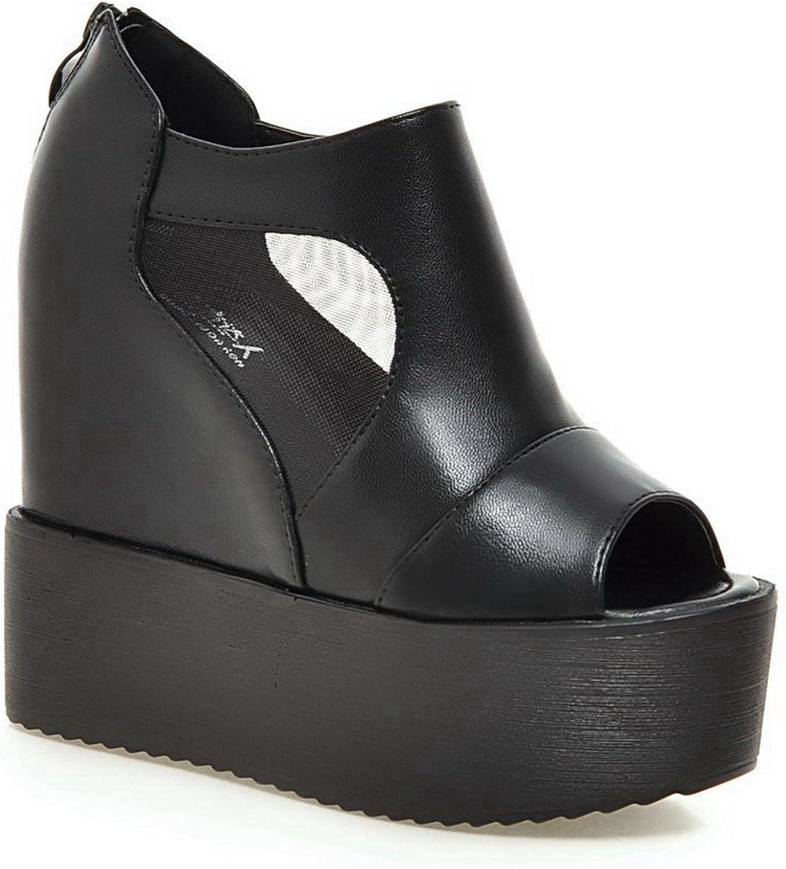 BalaMasa Womens Baguette-Style Cold Lining Solid Urethane Platforms Sandals ASL05231