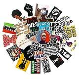 Ligoi-50pcs / Set Black People George Floyd Peace Stickers para Monopatines Impermeables Laptop Equipaje Guitarra Refrigerador Motocicleta
