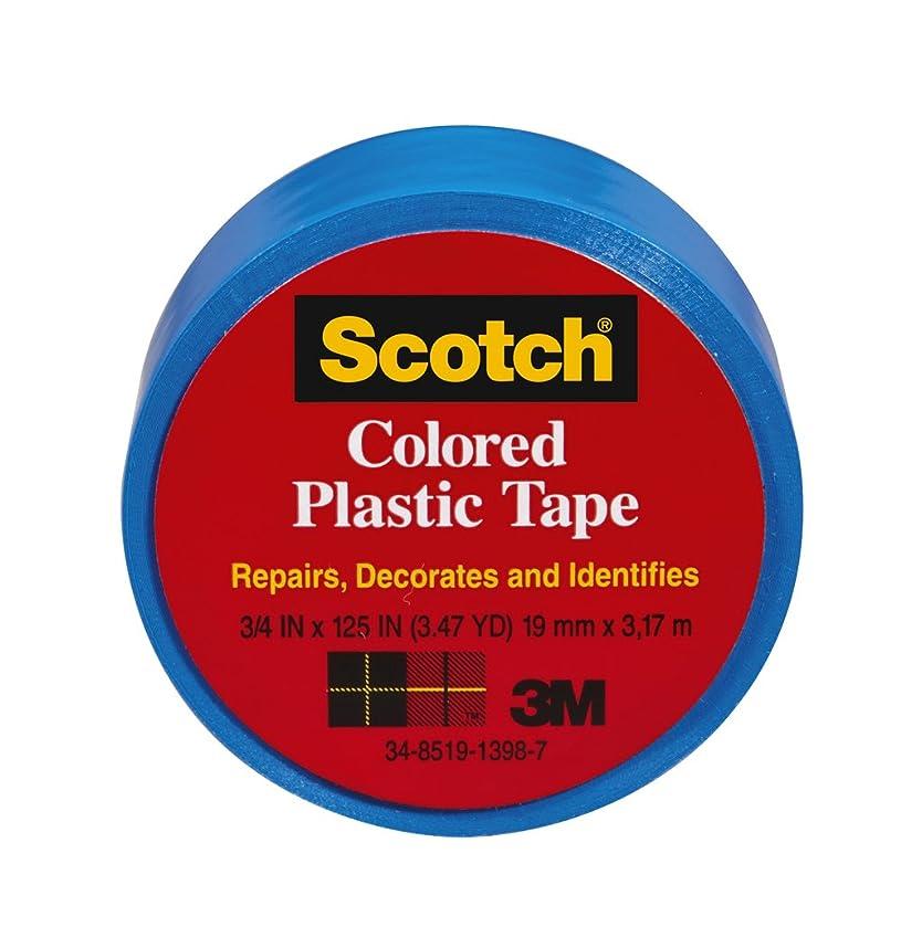 Scotch 191BL-6 Colored Plastic Tape, 3/4 x 125-Inch, Blue