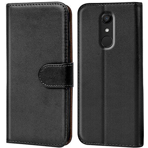 Verco U Pulse Hülle, Handyhülle für Wiko UPulse Tasche PU Leder Flip Case Brieftasche - Schwarz