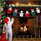 BAODANBA Colgando del Partido de Navidad Feliz Navidad de Nido de Abeja de la Bola de la Bandera de ...