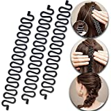 3 Pcs Hair Braiding Tool Roller With Hook Magic Hair Twist Styling Bun...