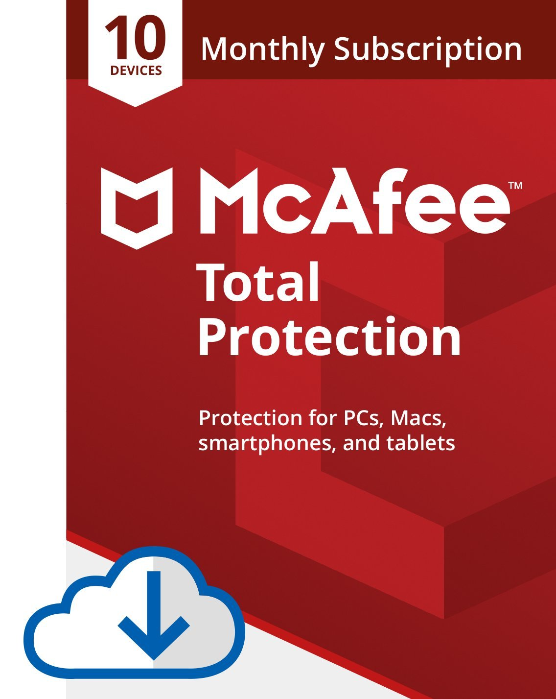 McAfee Total Protection 2020, 10 Device with Auto Renewal - Monthly, Antivirus Internet Security Software, Password Manager, Parental Control, Privacy, Amazon Exclusive Subscription