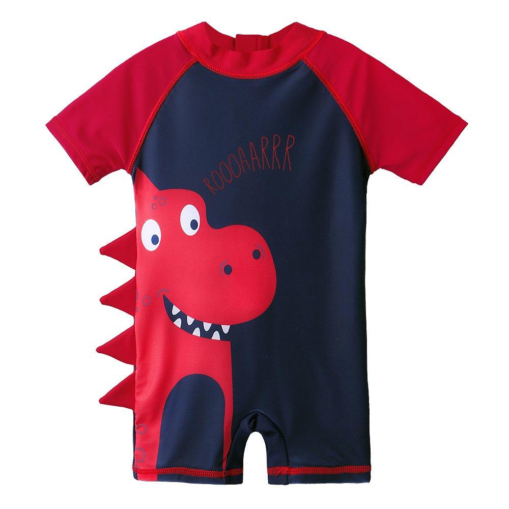 Sun Protection Freebily Toddler Baby Girls Long Sleeve Rashguard Swim Tshirt Sets Summer Beach Tankini with UPF 50