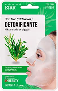 Kiss NY Professional Máscara Facial de Bambu - Tea Tree (Melaleuca), Kiss New York Professional