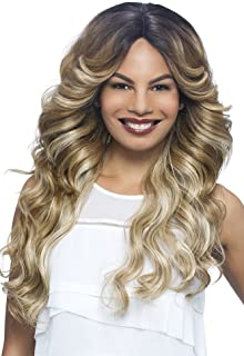 Vivica A Fox Hair Collection Glam Deep Lace Front, New Futura Synthetic Fiber Wig in Color, 99J, 13.1 Ounce