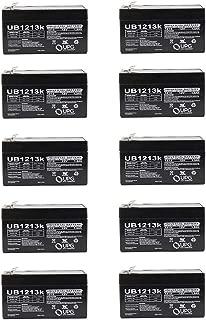Universal Power Group 12V 1.3Ah SLA Battery Replacement for Power Patrol SLA1005 Rhino - 10 Pack