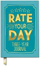 Studio Oh! Guided Journal, Rate Your Day Three-Year Journal