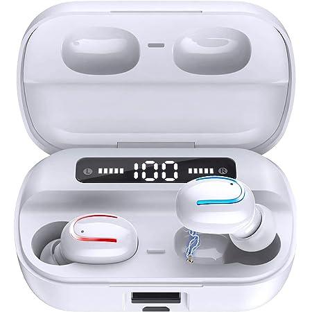 ワイヤレスイヤホン bluetooth 5.0 進級版チップセット搭載 200時間連続再生 1秒瞬時接続 CVC8.0ノイズキャンセリング ハンズフリー通話 高音質 IPX7防水 両耳 片耳 左右分離型 自動オンオフ 自動ペアリング カナル型 ランニング コードレスイヤホン bluetooth イヤフォン スポーツ マイク付き ぶるーとーすイヤホン TWS ワイヤレスイヤフォン 超軽量3.7g ブルートゥース イヤホン bluetooth earphone
