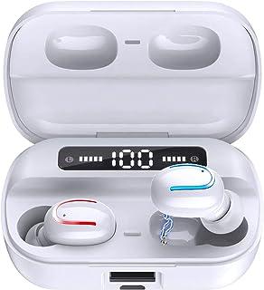 ワイヤレスイヤホン bluetooth 5.0 進級版チップセット搭載 200時間連続再生 1秒瞬時接続 CVC8.0ノイズキャンセリング ハンズフリー通話 高音質 IPX7防水 両耳 片耳 左右分離型 自動オンオフ 自動ペアリング カナル型 ...