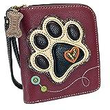 Chala Ivory Paw Print Zip-Around Wristlet Wallet, Dog Mom Gift