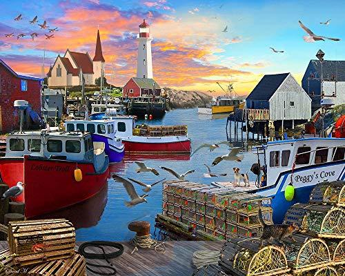 BAOZHEN 1000pcs Puzzle Rompecabezas Piezas Jigsaw Puzzle Bahía de Pesca de Vermont Corporation Adultos Juegos Infantiles Creativo Rompecabezas Navidad
