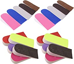IUASZZ 10 Pairs Shoe Insoles Random Color EVA Memory Foam Soft Elastic Inner Heightened Insole Cushion Pads to Arch Support Heel Increase Height Shoe Inserts for Men Women
