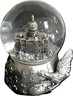 Washington D.C. Capital Snow Globe - 65 mm Silver Tone