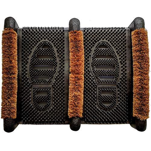 Ninamar Mud Scrubber Rubber Brush Mat - Scrub & Scrape Muddy Shoes