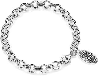 Gioielli DOP - Bracciale Rolo Premium - Bracciale in argento 925 - Bracciale componibile - Leggero e delicato - Fatto a ma...