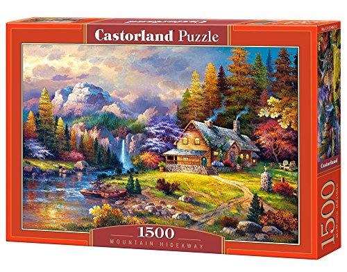Castorland Hobby Panoramic Mountain Hideaway Jigsaw Puzzle, 1500 pezzi, Multicolore, C-151462-2
