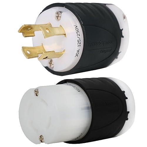 l14-30 generator plug and connector set, l14-30p + l14-30r