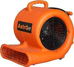 AstroDry Air Mover Carpet Dryer 3-Speed 1/3HP Stackable Floor Fan Blower-Water Flood Damage Restoration-Orange,A310