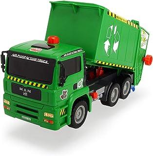 Dickie- Air Pump Garbage Truck Camión de Basura, Color Verde (3805000)