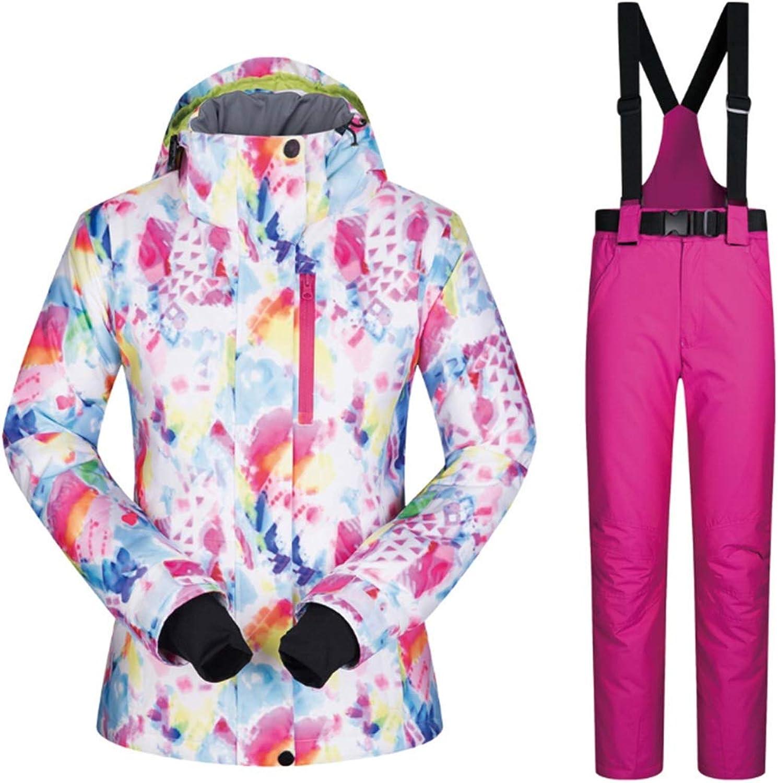 RABILTY Women's Ski Jacket High Windproof Waterproof Technology Snow Jacket