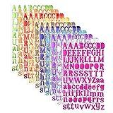 10 Colori Letter Stickers Adesivi Lettere Alfabeto Colorate Autoadesivi Stickers Glitter Adatte per Decorare Diario delle Vacanze Album Fotografici Scrapbooking 10 Sheets