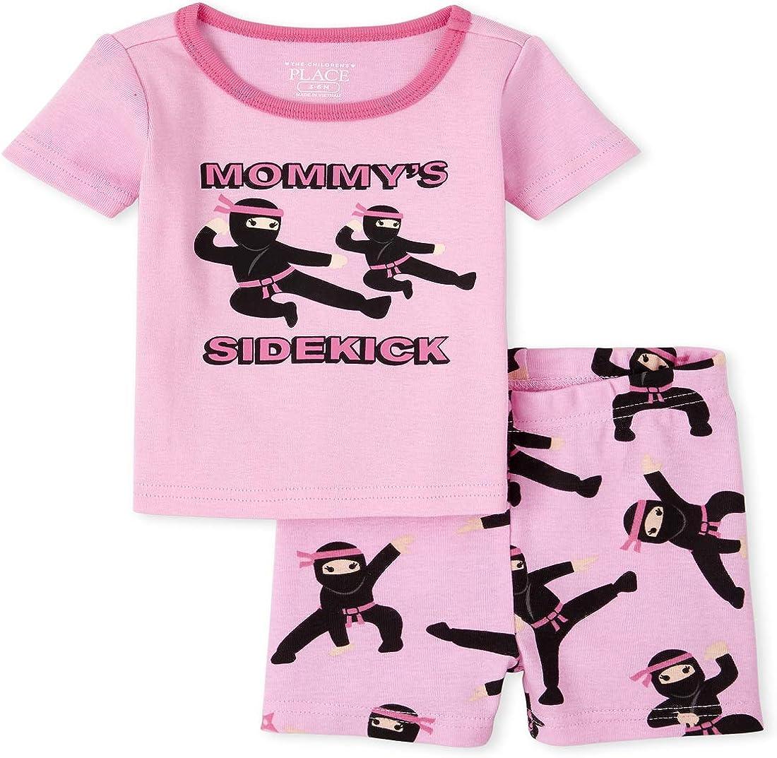 The Children's Place Baby Girls' Ninja Two Piece Pajama Set